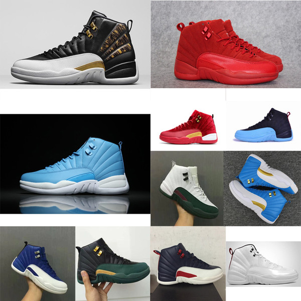 Cheap Men retro 12s basketball shoes for sale J12 Gamma Blue Rising sun white University Blue Wings Red Jumpman XII sneakers tennis with box