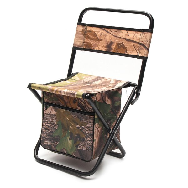 Outdoor Camping Folding Chair Portable Durable With Storage Bag Fishing Hiking Picnic Chair Lightweight Aluminum Alloy Chairs Yard Furniture Folding