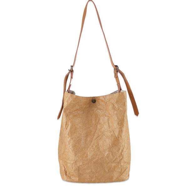 Kraft Paper Women Shoulder Bags High Quality Vintage Women Handbags Female Bolsa Wrinkled Bags Designer Handbags Luxury Brands
