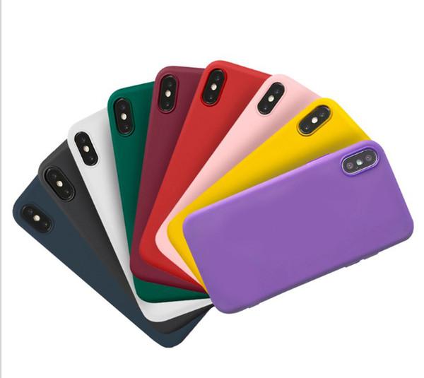 Weiche tpu silikon matt telefon case für iphone x xs max xr xs schutzhülle abdeckung für iphone 8 7 6 6 s plus candy farben