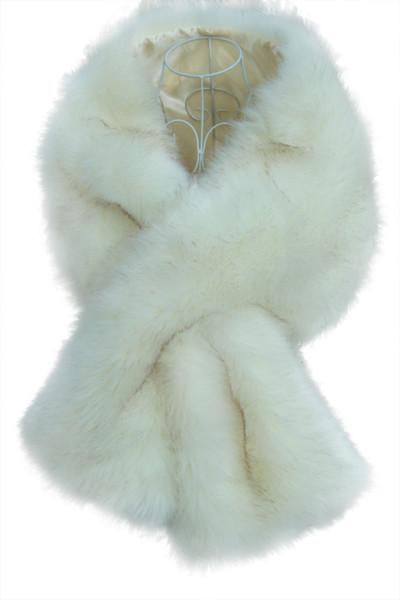 New Faux Fox Fur Bridal Shawl Fur Stick Wraps Marriage Shrug Coat Bride Winter Wedding Party Boleros Jacket Cloak Burgundy Black White Red