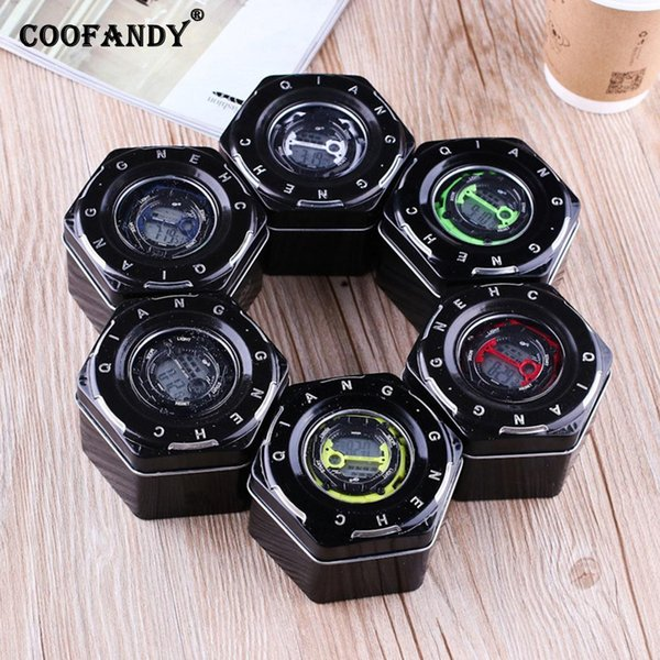 Travel Storage Jewelry Case Organizer Present etc Home Gift Watch Display Hexagon Letter Black Box Shop Metal
