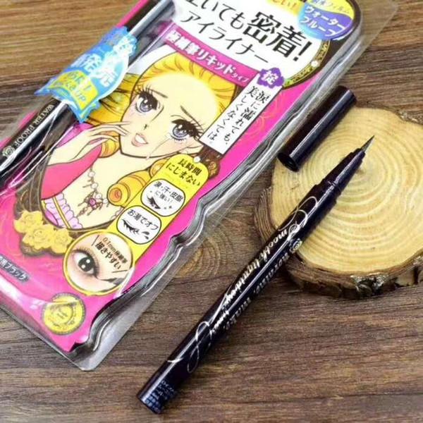 Free Shipping! NEW kiss me eye liner liquid EYELINER PENCIL black color waterproof long lasting 12pcs/lot