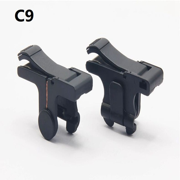 top popular C9 E9 S4 D9 1 Pair Mobile Fire Button Aim Key for PUBG Game Rules of Survival Gaming Trigger L1R1 Shooter Controller 50PAIR LOT 2019