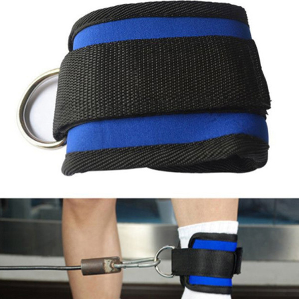 1pcs Fitness Sports Ankle Strap Wrist Sports Support Cuff Ankle Strap Gym Band Protector D Ring Multi Training Ring Attachment