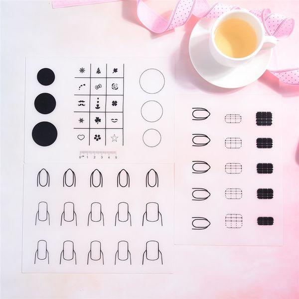 1PCS Mini Portable Silicone Pad Fingernails Mat Stamping Nail Practise Manicure Nail Art Tool 3 Styles