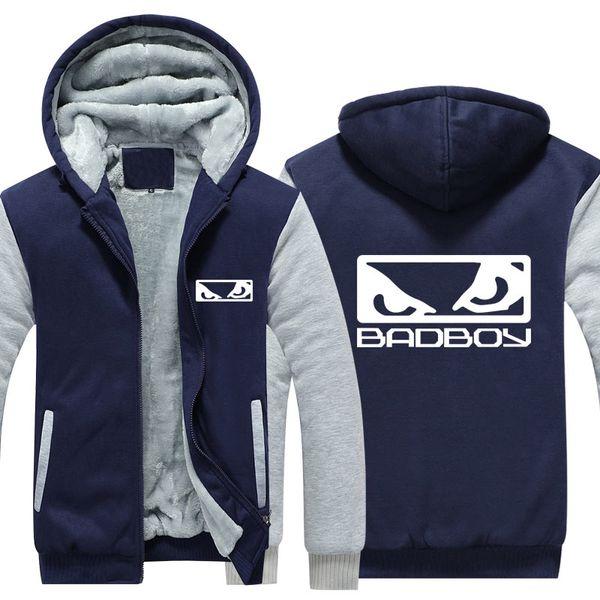 MIDUO Hot New MMA Badboy Bad Boy Men Zipper Hoodies Abrigo Winter Fleece Thicken Coat Unisex Sudaderas Algodón Chaqueta