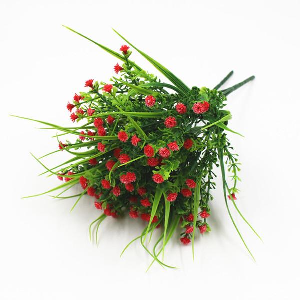 Vivid P.tenuiflora Green Grass piante fiore artificiale babysbreath fiore decorativo per prato artificiale / decorazione vaso casa