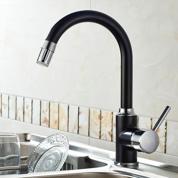 360 Dönen Siyah LED Işık Dokunun Banyo Mutfak Musluk Pirinç Krom Döner Lavabo Sıcaklık Sensörü Renk Led Mikser Dokunun