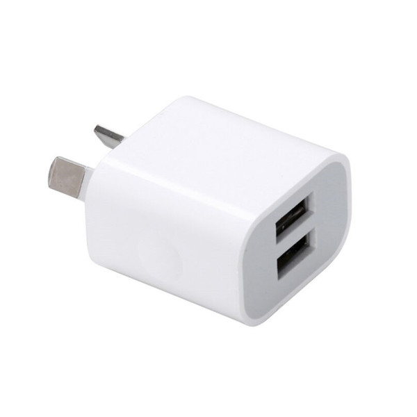 Dual interface USB Power Adapter 5V 2A Australia New Zealand AU Plug Wall Charger For iPhone for Samsung Smart Phone