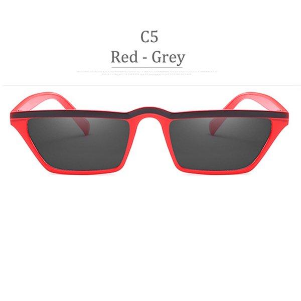 Lente grigia con montatura rossa C5
