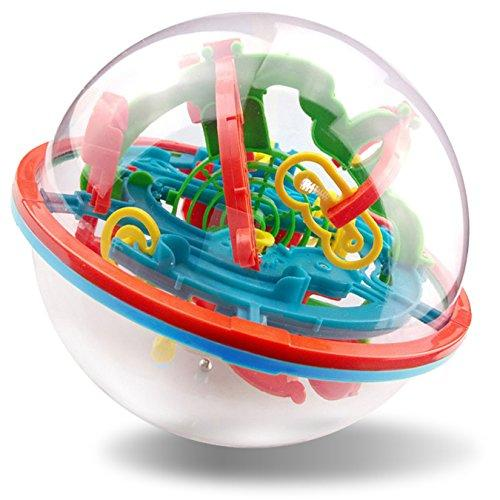 7TECH Maze Ball, 3D Magic Puzzle Game Flying Saucer Development with 100 Challenging Barriers Best Gift Education Toy Children Toys