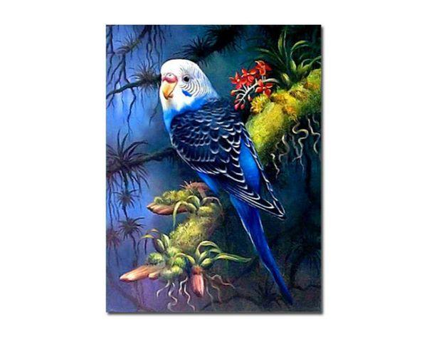 Творческий прямоугольник без рамы 5D Алмазная роспись попугай птица животных DIY Алмаз вышивка украшения дома