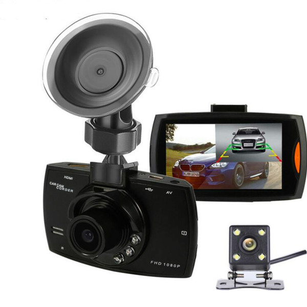 New Podofo Two lens Car DVR Dual Camera G30 1080P Video Recorder With Rear View Cameras Loop Recording Camcorder BlackBox