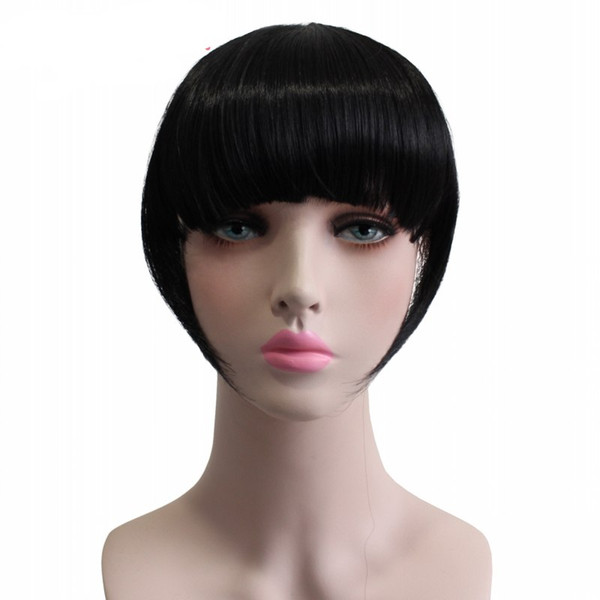 Rockstar 9Colors Heat Resistant Synthetic Hair Natural Front Bangs Hairpiece Clip In Fringe