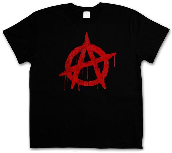 Summer Style Fashion ANARCHY A VINTAGE LOGO T-SHIRT - Cyber Punk Gothic Rocker Symbol Sign T-Shirt Hip-Hop Casual Clothing