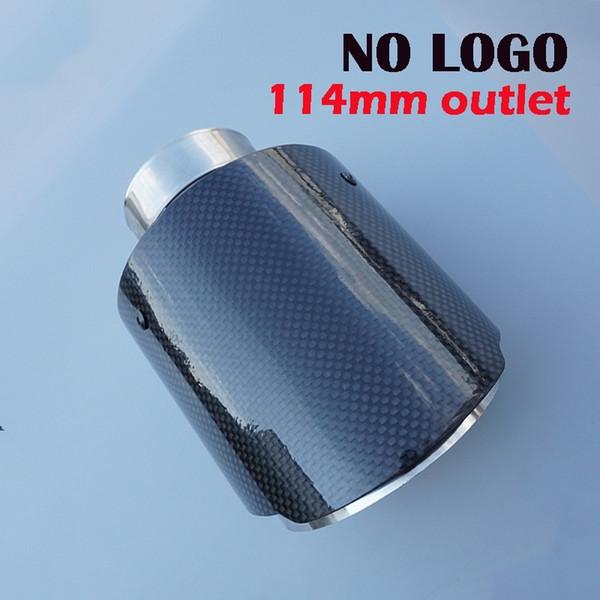 KEIN LOGO Akrapovic Style Kohlefaser-Autoauspuff Schalldämpfer Endrohr Glänzend 114mm