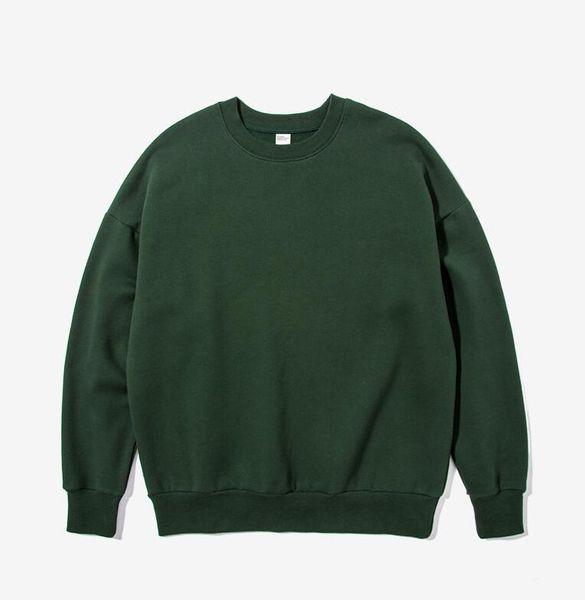 top popular 2018 Man ashion leisure long sleeve Dark green Round collar sweater 2019