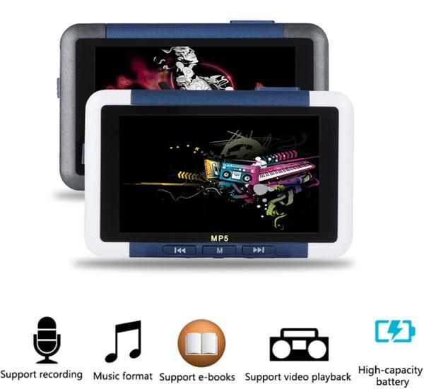 3 inç LCD 8 GB Bellek FM Radyo Video Kaydedici Medya MP3 MP4 Çalar E-kitap ile
