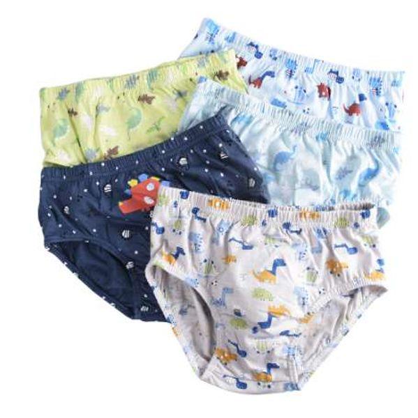 5 шт. / лот дети мальчики нижнее белье мультфильм для ребенка шорты трусики детские боксер трусы трусы трусы мальчиков Underware брюки для 3-14 Y