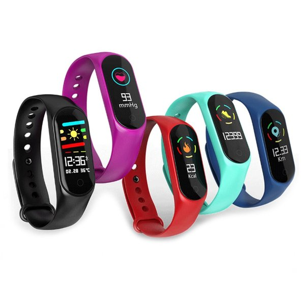 Upgraded M3 Smart Bracelet Fitness tracker Smart Watch with Heart Rate Waterproof Bracelet Pedometer Wristband For IOS and Android Cellphone