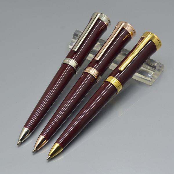 Fashion Carties Marke Sammlung Kugelschreiber Hohe Qualität Blau / Schwarz / Rot Metall Schreibwaren Büro Schulbedarf Niedlich schreiben Kugelschreiber