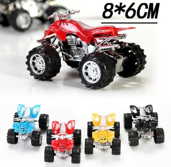 Pull Back Kids Toy Motorcycle Mini New Four-Wheeled Off-Road Motorcycle Stalls Children toys Wholesale free shipping