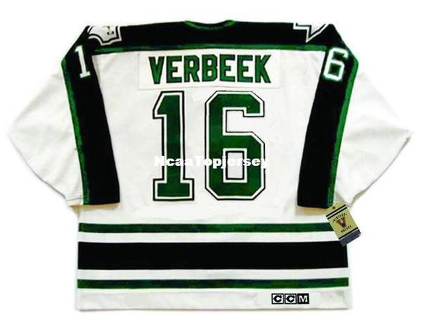 custom Mens Jerseys PAT VERBEEK Dallas Stars 1990's CCM Vintage Cheap Retro Hockey Jersey