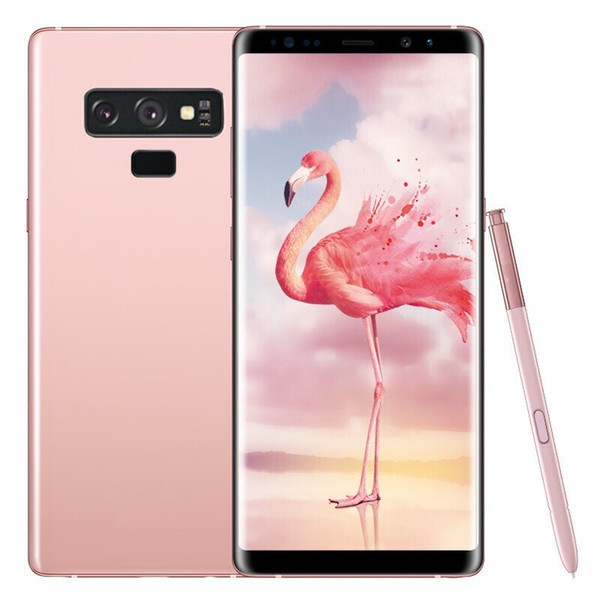 Goophone note9 Note 9 smartphones 6.2inch Android 7.0 dual sim shown 128G ROM 4G LTE cell phones