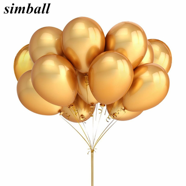 vent Party Ballons Accessories Gold Balloons 10pcs/lot 12inch 2.8g Pearl Latex Balloon Inflatable Wedding Decoration Helium Ballon Kids B...