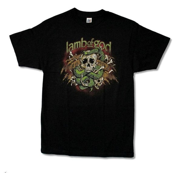 Lamb Of God Venom Snake Skull Est. 1994 Black T Shirt New Official Merch Mens 2018 fashion Brand T Shirt O-Neck