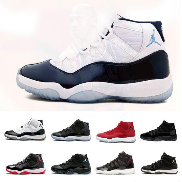 11 zapatos de baloncesto para hombre 11s Bred Concord Tint Platinum Space Jam Gamma azul zapatillas de deporte de diseño XI Hombres Mujeres Zapatos