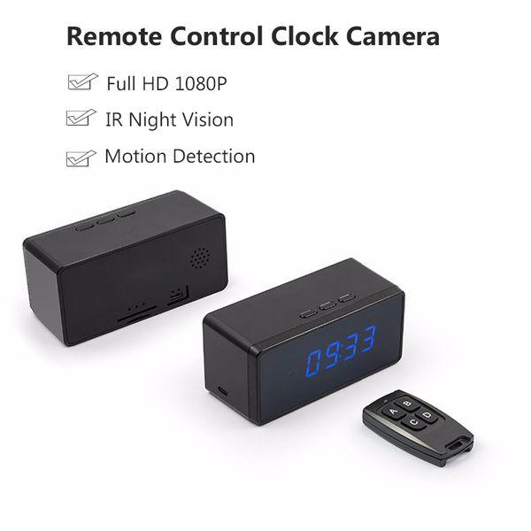 Remote Control Clock Camera Full HD 1080P Mini Camera Alarm Setting Table Clock Camera Infared Night Vision
