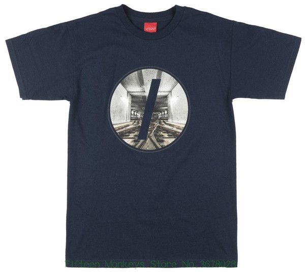 Summer New Print Man Cotton Fashion V / Sual Tunnel Regular Fit T-shirt Visual Skatewear Fashion Tee Top Mens Navy