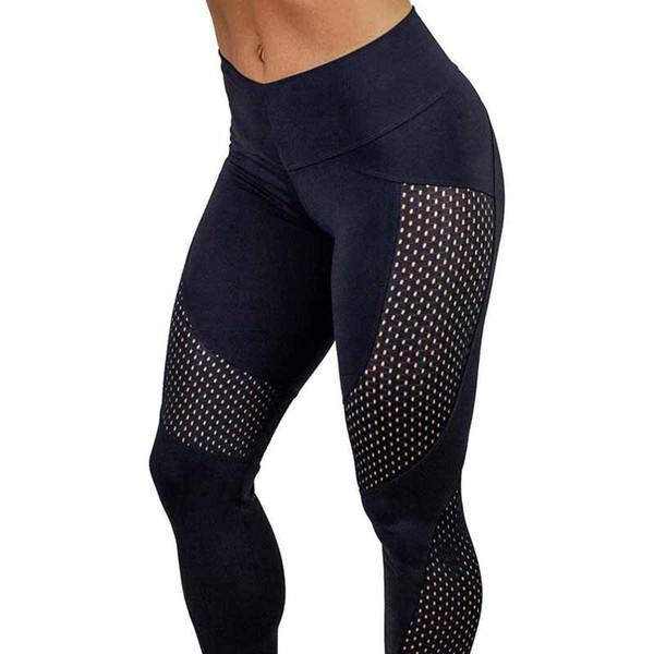 New Hot Quick Drying Women Sport Yarn Leggings Fashion Ankle Length Legging Fitness Black Leggins Fashion