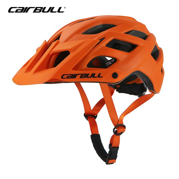 2018 New Bicycle Helmet Mountain Road BMX Cycling Sports Safety Helmet Head Protect M/L Unisex Off-road Helmet With Visor Orange Y1892908