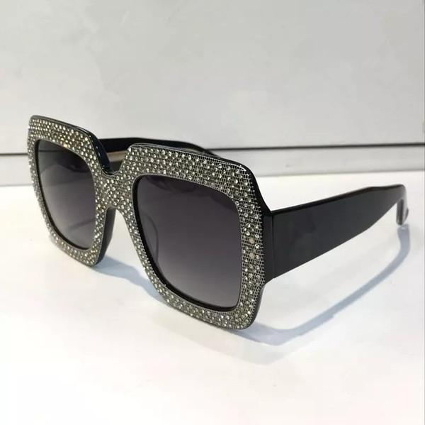 Compre Gafas De Sol De Lujo Aaa Marco Grande Elegante Diseñador De ...
