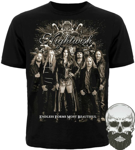 "T-shirt NIGHTWISH ""ENDLESS FORMS MOST BEAUTIFUL"" New. Silkscreen printing cotton Summer 2018 Short Sleeve Plus Size"