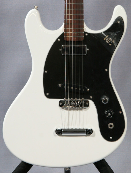 best selling Rare Ventures Johnny Ramone '65 Reissue Mark II Deluxe White Electric Guitar, Zero 0 Fret, Mini Humbucker Neck Pickup, Grover Tuners