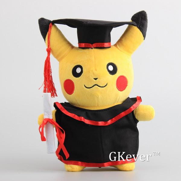 Anime Kuscheltier Neue Pikachu mit Diplom Kleidung Cosplay Gefüllte Puppen Nette Rilakkuma Absolvent Geschenk Plüschtiere 27 cm