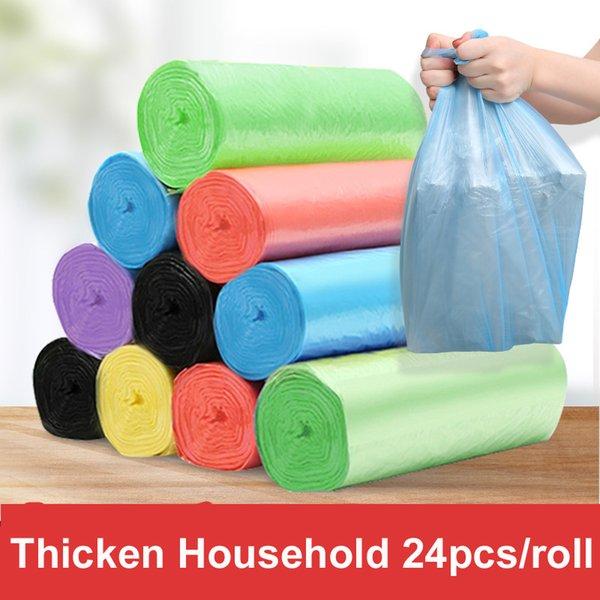 Бесплатная доставка 5 рулонов 50 * 45 см размер одноразовые мешки для мусора одного цвета толщиной удобная экологическая очистка мешок для отходов пластиковые мешки для мусора