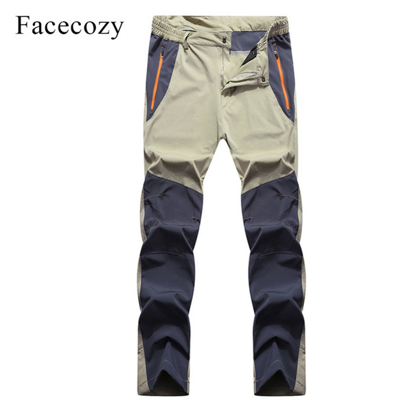 Facecozy Men Summer Breathable Hiking Fishing Pants Quick Dry Outdoor Sport Pants Elastic Thin Anti-UV Trousers Male Pantolon C18111401