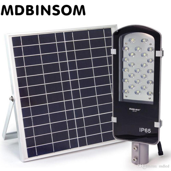 24 UNIDS LED 12w Alimentado con Energía Solar Luz de Calle Patio Exterior Luz de Noche Control de Luz Camino Camino Luces Nocturnas 12v 16W Panel Solar