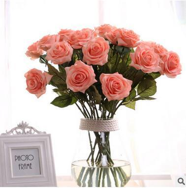 Wholesale Wedding Decorative Flowers Rose Artificial Fake Rose Romantic Valentine ' ;S Day Gift For Girlfriend Wedding Rose Flower Hig