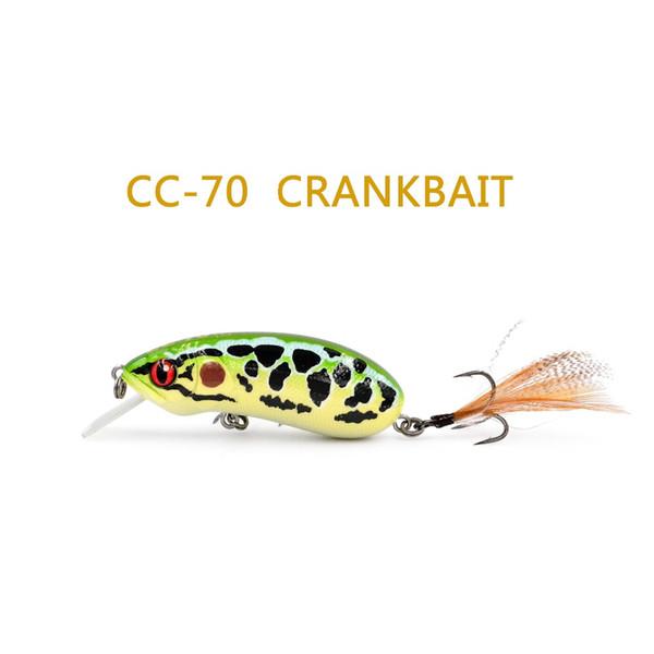 70mm/12.5g branded crank bait CC70 hard wobbler lures floating artificial crankbaits for bass fishing
