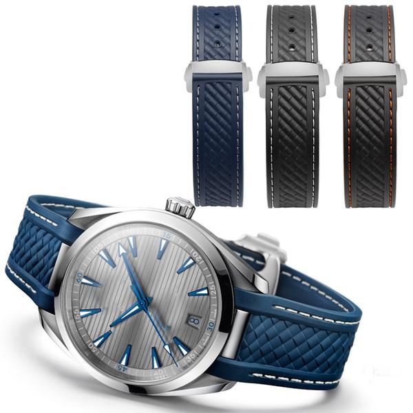 2018 NEW Arrivals 20MM soft waterproof rubber watch straps For 300  Bracelet TERRA AT150 8900 watchbands