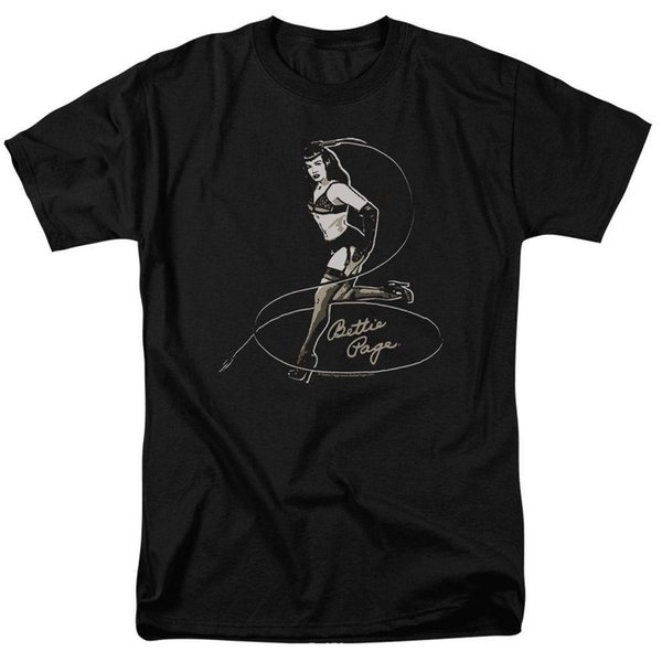 Bettie Page Pin-up Model with Long Whip Sexy Dominatrix in Bra Tee Shirt S-3XL Mens 2018 fashion Brand T Shirt O-Neck 100%cotton