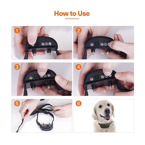 Bark Collar NEWEST UPGRADED Smart Chip Anti-Barking Collar With 7 Adjustable Sensitivity Beep Vibration Shock No Shock Mode Harmless Humane