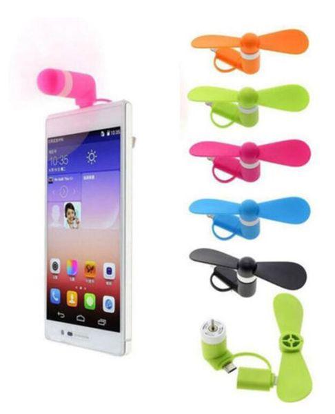Mini USB Ventilador Portátil Super Mudo Cooler Resfriamento Para 2 em 1 Tipo-c Android Samsung S7 mini-borda do ventilador Com Pacote OPP