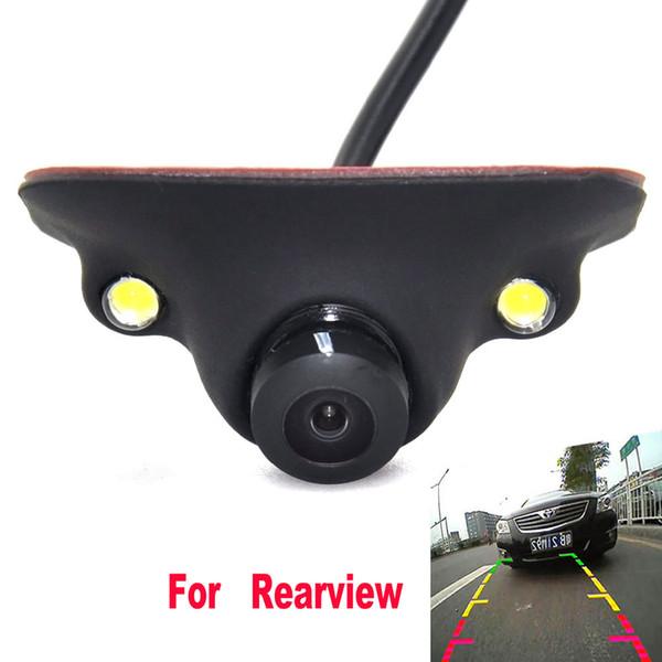 Mini CCD HD Night Vision 360 Degree Car Rear View Camera Front Camera Front View Side Reversing Backup Camera 2 LED